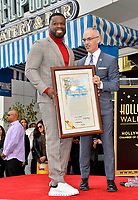 """LOS ANGELES, CA. January 30, 2020: Curtis 50 Cent Jackson & Mitch O'Farrell at the Hollywood Walk of Fame Star Ceremony honoring Curtis """"50 Cent"""" Jackson.<br /> Pictures: Paul Smith/Featureflash"""