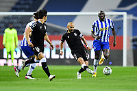 22nd April 2021; Dragao Stadium, Porto, Portugal; Portuguese Championship 2020/2021, FC Porto versus Vitoria de Guimaraes; Moussa Marega of FC Porto and André André of Vitoria de Guimaraes