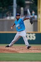 Amarillo Sod Poodles pitcher Miguel Diaz (46) during a Texas League game against the Frisco RoughRiders on May 17, 2019 at Dr Pepper Ballpark in Frisco, Texas.  (Mike Augustin/Four Seam Images)