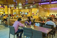 Yogyakarta, Java, Indonesia.  Ambarrukmo Shopping Mall Food Court.