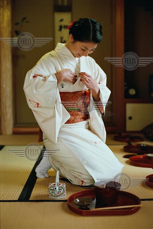 A Japanese tea ceremony.