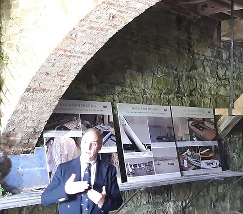 Lord Erne speaking at the Crom boathouse