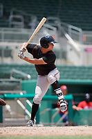 GCL Orioles left fielder Trey Truitt (10) at bat during a game against the GCL Red Sox on August 9, 2018 at JetBlue Park in Fort Myers, Florida.  GCL Red Sox defeated GCL Orioles 10-4.  (Mike Janes/Four Seam Images)