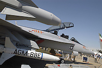 - USA fighter aircraft  F 18 Super Hornet, detail of the armament of bombs and missiles....- aereo da caccia USA F 18 Super Hornet, particolare dell'armamento di bombe e missili
