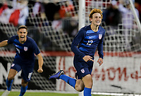 EAST HARTFORD, CT - Tuesday October 16, 2018: The men's national teams of the United States (USA) and Peru (PER) play in an international friendly game at Pratt & Whitney Stadium at Rentschler Field.