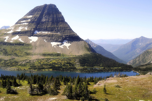 Bearhat Mountain from Hidden Lake Logan Pass. Glacier National Park. Marc Caryl Nature Photos.