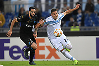 Adil Rami of Marseille and Sergej Milinkovic-Savic of Lazio compete for the ball during the Uefa Europa League 2018/2019 football match between SS Lazio and Marseille at stadio Olimpico, Roma, November, 08, 2018 <br />  Foto Andrea Staccioli / Insidefoto