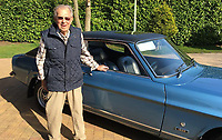 BNPS.co.uk (01202) 558833. <br /> Pic: AndrewLast/BNPS<br /> <br /> Pictured: Fred Last with the Capri. <br /> <br /> Pensioner Fred Last has bought back his beloved Ford Capri more than 20 years after he sold it.<br /> <br /> Fred, 92, bought the Mark One Capri from new in 1971 and it was his pride and joy for almost three decades.<br /> <br /> He regularly used the vehicle for family holidays and day trips before selling it in 1999, once his children had grown up.