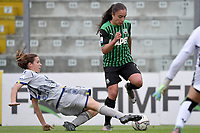 Caterina Ambrosi of Hellas Verona and Haley Bugeja of Sassuolo compete for the ball during the women Serie A football match between US Sassuolo and Hellas Verona at Enzo Ricci stadium in Sassuolo (Italy), November 15th, 2020. Photo Andrea Staccioli / Insidefoto