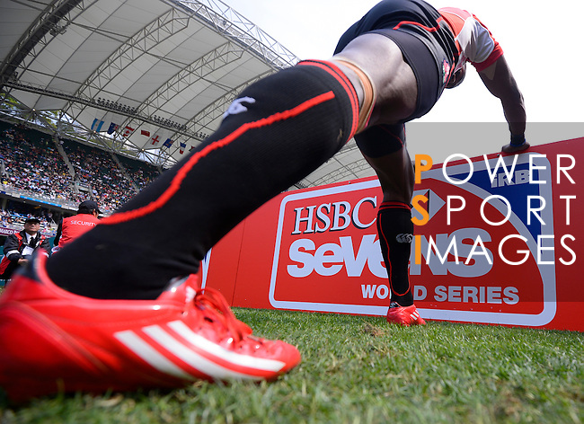 New Zealand vs Wales on Day 2 of the 2012 Cathay Pacific / HSBC Hong Kong Sevens at the Hong Kong Stadium in Hong Kong, China on 24th March 2012. Photo © Felix Ordonez  / The Power of Sport Images