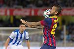FC Barcelona's Daniel Alves during La Copa match.February 12,2014. (ALTERPHOTOS/Mikel)