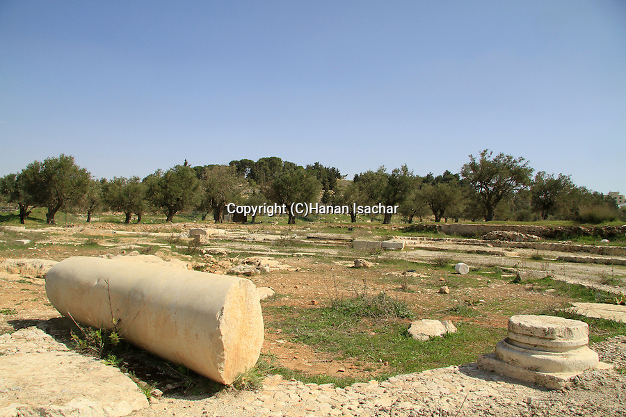 The remains of the Byzantine octagonal Kathisma Church on the Jerusalem-Bethlehem road, the Church was erected in honor of St. Mary, commemorating the place where she stopped to rest on her way to Bethlehem