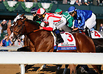 April 03, 2021:  #3 Highly Motivated and Javier Castellano at the start of the Blue Grass finished a respectful 2nd.<br /> #4 Essential Quality and jockey Luis Saez win the 97th running of the Toyota Blue Grass Grade2 $800,000 for owner Godolphin and trainer Brad Cox at Keeneland Racecourse in Lexington, KY on April 03, 2021.  Candice Chavez/ESW/CSM