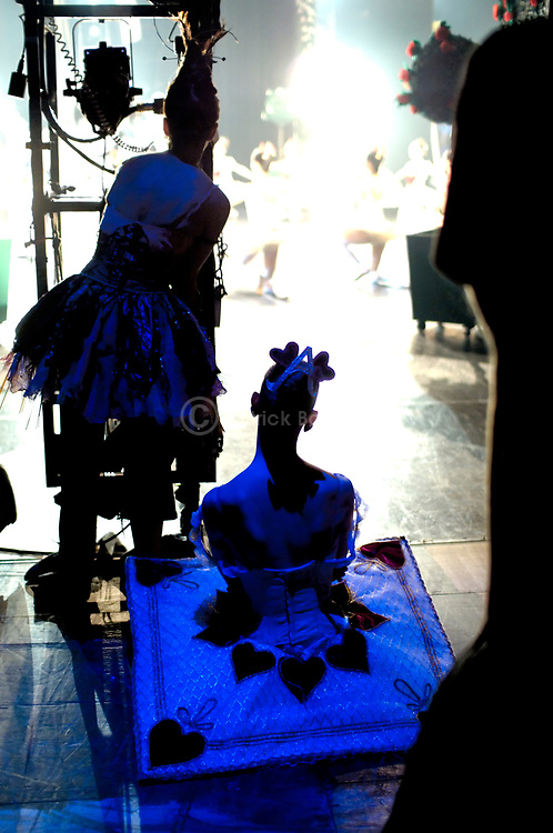 English National Ballet corps de ballet watching from the wings