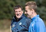 St Johnstone Training….26.08.16<br />Manager Tommy Wright pictured during training this morning at McDiarmid Park ahead of tomorrow's trip to Inverness with Steven MacLean<br />Picture by Graeme Hart.<br />Copyright Perthshire Picture Agency<br />Tel: 01738 623350  Mobile: 07990 594431