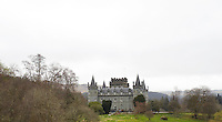 Inverary Castle rises above its park, a mid-18th-century neo-gothic building punctuated with conical towers