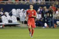 KANSAS CITY, KANSAS - JUNE 26: Christian Pulisic #10 during a 2019 CONCACAF Gold Cup group D match between the United States and Panama at Children's Mercy Park on June 26, 2019 in Kansas City, Kansas.