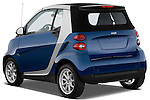 Rear three quarter view of a 2009 SmartForTwo Cabriolet