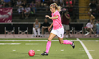 Philadelphia Independence defender Allison Falk (3) dribbles upfield.  The Philadelphia Independence and Boston Breakers played to a 2-2 tie at John A Farrell Stadium in West Chester, Pennsylvania.