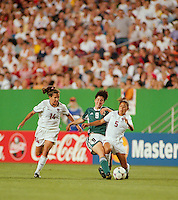 Landover, MD - July 1, 1999: USA vs Germany, Women's World Cup 1999 Quarterfinals. USA 3, Germany 2.