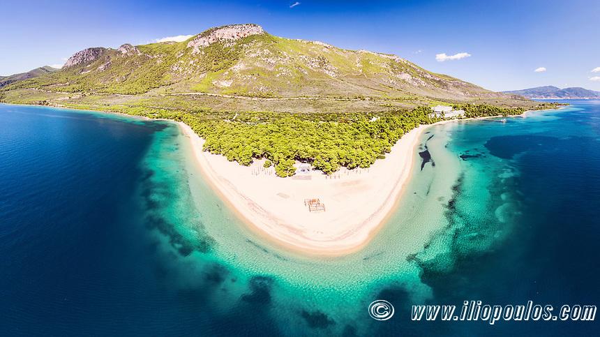 The beach Gregolimano in Evia island, Greece