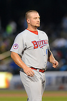 Buffalo Bisons outfielder Brad Glenn (40) during a game against the Rochester Red Wings on August 30, 2013 at Frontier Field in Rochester, New York.  Buffalo defeated Rochester 6-3.  (Mike Janes/Four Seam Images)