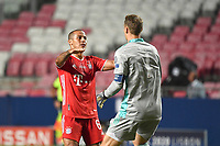 23rd August 2020, Estádio da Luz, Lison, Portugal; UEFA Champions League final, Paris St Germain versus Bayern Munich;  THIAGO (M) and keeper Manuel NEUER (M) celebrate their goal for 1-0 from Colman
