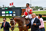 HOT SPRINGS, AR - APRIL 13:  Apple Blossom Handicap at Oaklawn Park on April 13, 2018 in Hot Springs, Arkansas. #2 Unbridled Mo with jockey Ricardo Santana, Jr.  (Photo by Ted McClenning/Eclipse Sportswire/Getty Images)