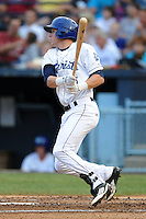 Asheville Tourists third baseman Trevor Story #3 swings at a pitch during a game against the Rome Braves at McCormick Field on June 23, 2012 in Asheville, North Carolina.  The Braves defeated the Tourists 4-2. (Tony Farlow/Four Seam Images).