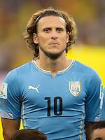 Diego Forlan of Uruguay
