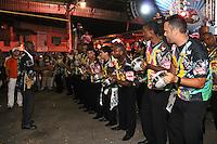 SAO PAULO, SP, 09 DE DEZEMBRO DE 2011, Bateria da VAI VAI, no LANÇAMENTO DO CD DA LIGA DAS ESCOLAS DE SAMBA 2012 na quadra da Escola de Samba Rosas de Ouro, zona norte de SP.  (FOTO: MILENE CARDOSO / NEWS FREE)
