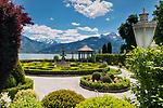 Oesterreich, Salzburger Land, Pinzgau, Zell am See: Grand Hotel Zell am See, Park | Austria, Salzburger Land, Pinzgau, Zell at Zeller Lake: Grand Hotel Zeller Lake, garden