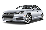 Stock pictures of low aggressive front three quarter view of 2017 Audi A4 Premium 4 Door Sedan