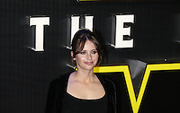 Felicity Jones attends the STAR WARS: 'The Force Awakens' EUROPEAN PREMIERE at Odeon, Empire & Vue Cinemas, Leicester Square, England on 16 December 2015. Photo by David Horn / PRiME Media Images