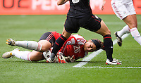 Ceci Santiago. The USWNT defeated Mexico, 1-0, during the game at Red Bull Arena in Harrison, NJ.