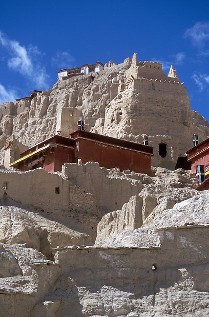 The RED CHAPEL (LHAKHANG MARPO) at TSAPARANG (10th C.), the lost city of the GUGE KINGDOM west of KAILASH - TIBET