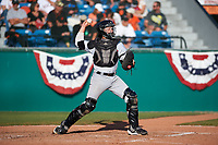 Visalia Rawhide catcher Tim Susnara (6) during a California League game against the San Jose Giants on April 13, 2019 at San Jose Municipal Stadium in San Jose, California. Visalia defeated San Jose 4-2. (Zachary Lucy/Four Seam Images)
