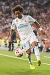 Real Madrid's Marcelo during Supercup of Spain 2nd match at Santiago Bernabeu Stadium in Madrid, Spain August 16, 2017. (ALTERPHOTOS/Borja B.Hojas)