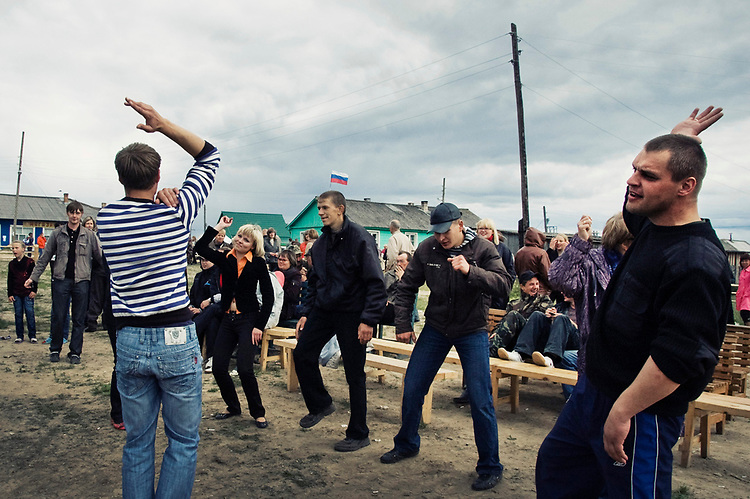 Villagers are celebrating the day of Fool Ivan (from Russian fairy tales)