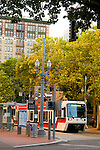 MAX Lightrail on the Transit Mall, Downtown Portland, Oregon
