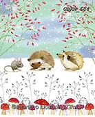 Kate, CHRISTMAS ANIMALS, WEIHNACHTEN TIERE, NAVIDAD ANIMALES, paintings+++++,GBKM684,#xa#