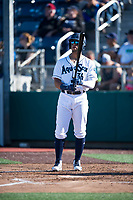 Everett AquaSox right fielder Jansiel Rivera (36) at bat during a Northwest League game against the Tri-City Dust Devils at Everett Memorial Stadium on September 3, 2018 in Everett, Washington. The Everett AquaSox defeated the Tri-City Dust Devils by a score of 8-3. (Zachary Lucy/Four Seam Images)