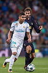 Carlos Henrique Casemiro of Real Madrid (L) fights for the ball with Fernando Llorente of Tottenham Hotspur FC (R) during the UEFA Champions League 2017-18 match between Real Madrid and Tottenham Hotspur FC at Estadio Santiago Bernabeu on 17 October 2017 in Madrid, Spain. Photo by Diego Gonzalez / Power Sport Images