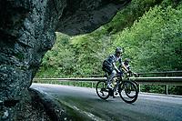 Mauro Schmid (SUI/Qhubeka ASSOS) up the Passo di San Valentino (cat.1)<br /> <br /> 104th Giro d'Italia 2021 (2.UWT)<br /> Stage 17 from Canazei to Sega di Ala (193km)<br /> <br /> ©kramon
