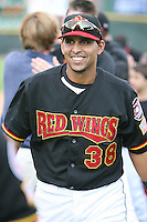 2007:  Luis Ugueto of the Rochester Red Wings, Class-AAA affiliate of the Minnesota Twins, during the International League baseball season.  Photo By Mike Janes/Four Seam Images