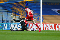 Ashley Nadesan of Crawley Town scores the first goal for his team and celebrates during AFC Wimbledon vs Crawley Town, Emirates FA Cup Football at Plough Lane on 29th November 2020