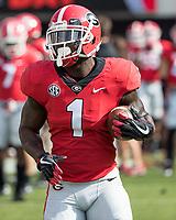 Athens, GA - November 4, 2017: The number 1 ranked University of Georgia Bulldogs host the University of South Carolina Gamecocks at Sanford Stadium.