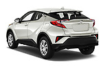 Car pictures of rear three quarter view of 2021 Toyota C-HR LE 5 Door SUV Angular Rear