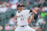 Charlotte Knights starting pitcher Kyle Drabek (31) in action against the Norfolk Tides at BB&T BallPark on June 7, 2015 in Charlotte, North Carolina.  The Tides defeated the Knights 4-1.  (Brian Westerholt/Four Seam Images)