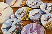 WW2 Spitfire plates on sale at Swaffhma Market, Norfolk